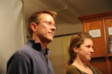 Dec. 2012 presentation of Richard Waterhouse and Dan Butler's short movie, Pearl. Photo courtesy: J.D. Sloan